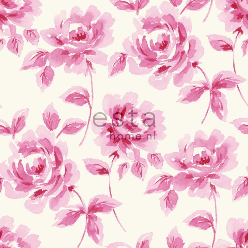 wallpaper tapete aquarell malte rosen