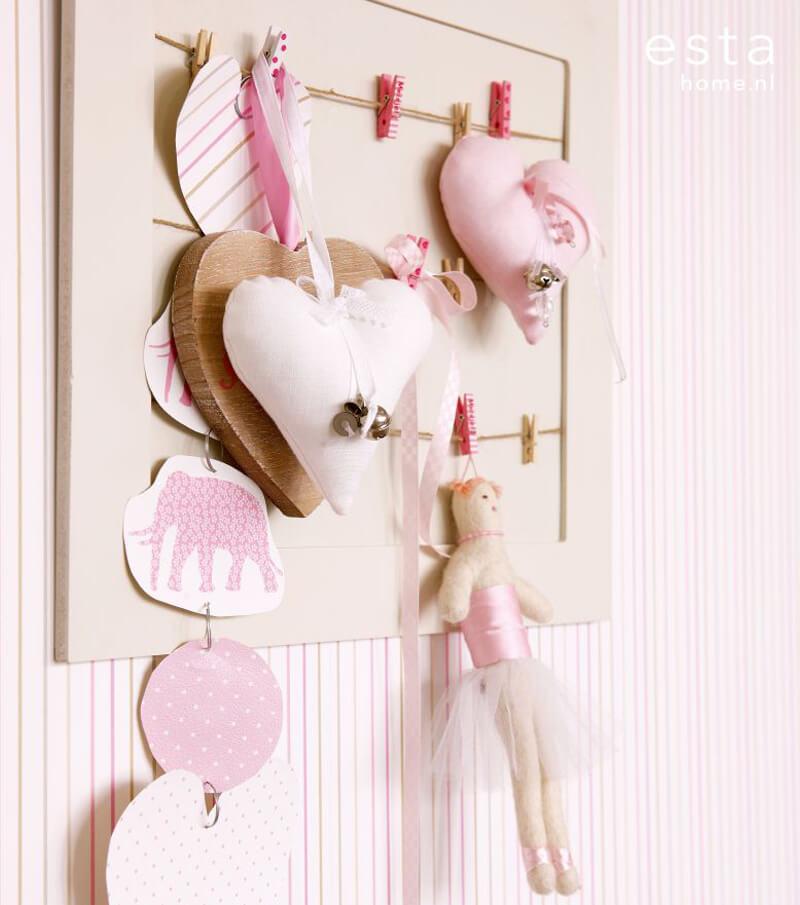 Streifen Tapete baby rosa