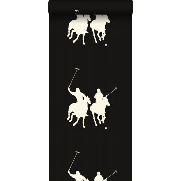 Tapete Polospieler Dunkelbraun