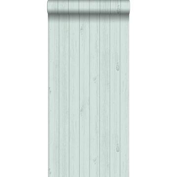 Tapete Holz-Optik Pastell Mintgrün