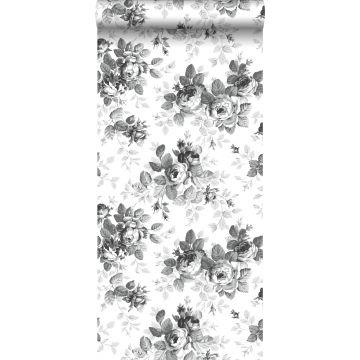 Tapete Rosen Schwarz und Weiß