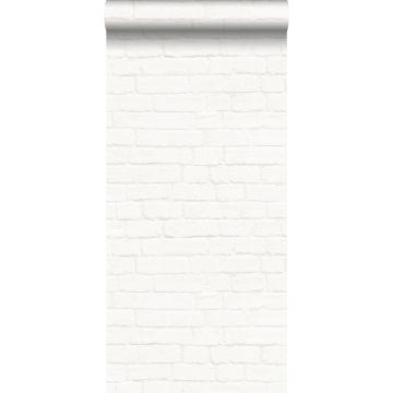 Tapete Steinoptik Crême-Weiß