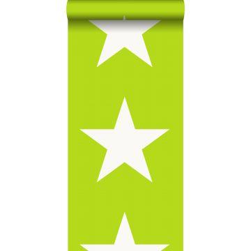 Tapete Sterne Lindgrün
