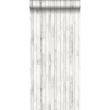 Tapete Holz-Optik Grauweiß