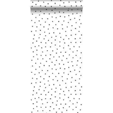 Tapete Punkte Schwarz und Weiß