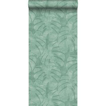 Tapete Monstera-Blätter Mintgrün