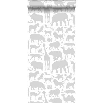 Tapete Tiere Grau