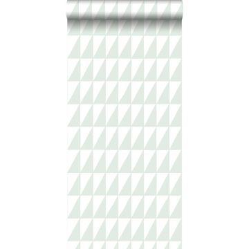 Tapete grafische Dreiecke Mintgrün
