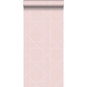 Tapete grafischen Linien Altrosa