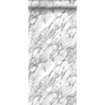 Tapete Marmor-Optik Schwarz-Weiß