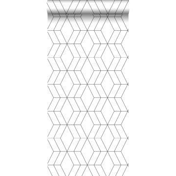 Tapete Art Decó Muster Weiß und Schwarz
