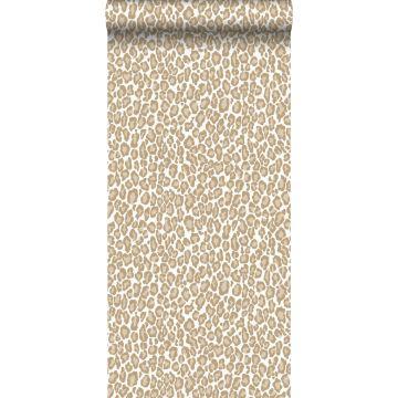 Tapete Leopardenmuster Beigebraun