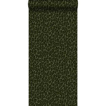 Tapete Leopardenmuster Dunkelgrün