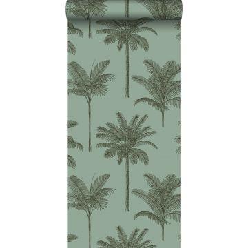 Tapete Palmen Graugrün