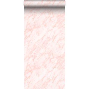 Tapete Marmor-Optik Hellrosa