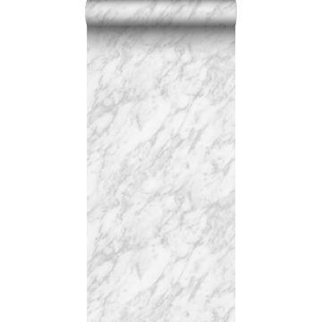Tapete Marmor-Optik Weiß und Grau