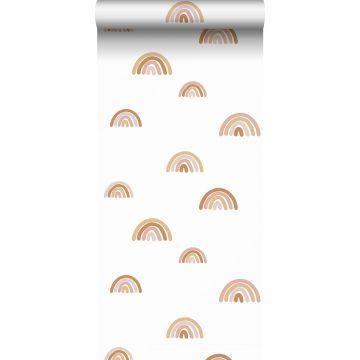 Tapete Regenbogen Terracotta, Hellrosa und Beige