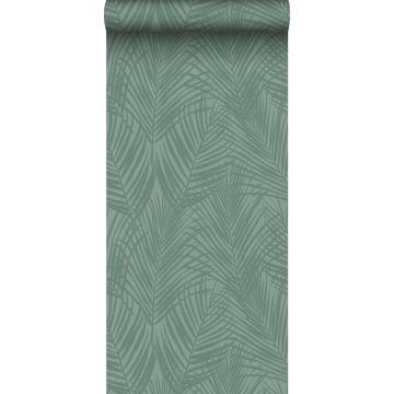 Tapete Palmblätter Graugrün