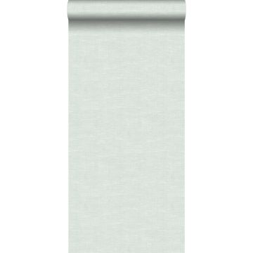 Tapete Leinen-Optik Pastell Mintgrün