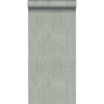 Eco Texture Vliestapete Origami-Muster Hellgrau