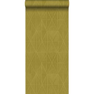 Eco Texture Vliestapete Origami-Muster Ockergelb