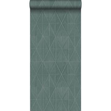 Eco Texture Vliestapete Origami-Muster Petrolblau