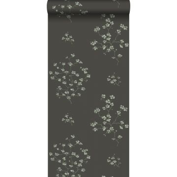 Tapete Blütenzweige Schwarz