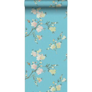 Eco Texture Vliestapete Kirschblüten Van-Gogh-Blau