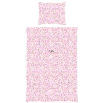 Einpersonen Bettwäscheset Paisley-Muster Pastell-Farben