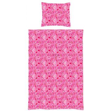 Einpersonen Bettwäscheset Paisley-Muster Bonbonrosa