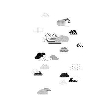 Fototapete Wolken Schwarz-Weiß