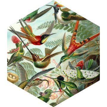 selbsklebende Wandtattoo Vögel Dschungelgrün