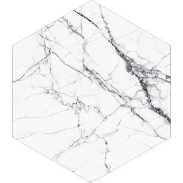 selbsklebende Wandtattoo Marmor-Optik Schwarz-Weiß