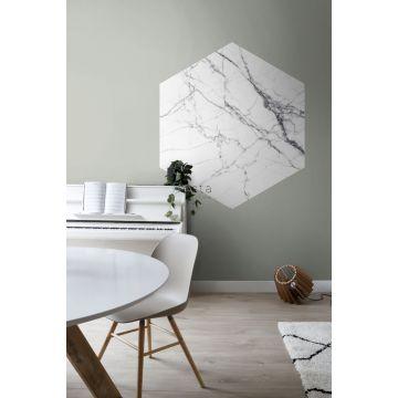Esszimmer selbsklebende Wandtattoo Marmor-Optik Schwarz-Weiß 159026