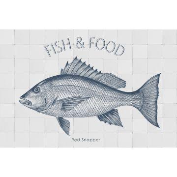 selbsklebende Wandtattoo Fisch Blau