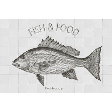 selbsklebende Wandtattoo Fisch Schwarz