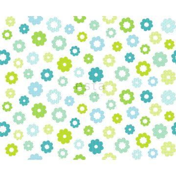 Stoff Blumen Lindgrün