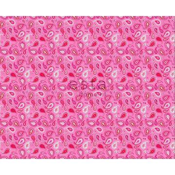 Stoff Paisley-Muster Bonbonrosa