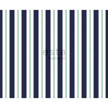 Stoff Streifen Marineblau und Grün