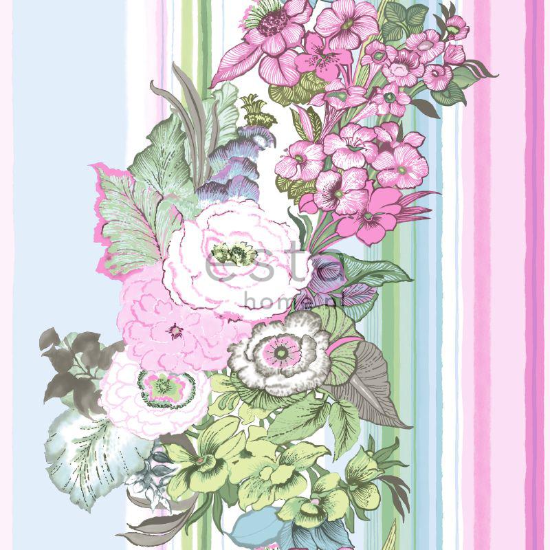 tapete vintage bluten rosa
