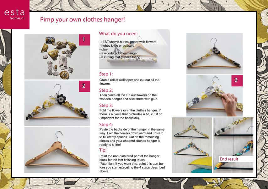 Steps for decoration your own clothes hanger